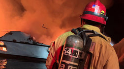 Το δραματικό SOS από το φλεγόμενο σκάφος στην Καλιφόρνια
