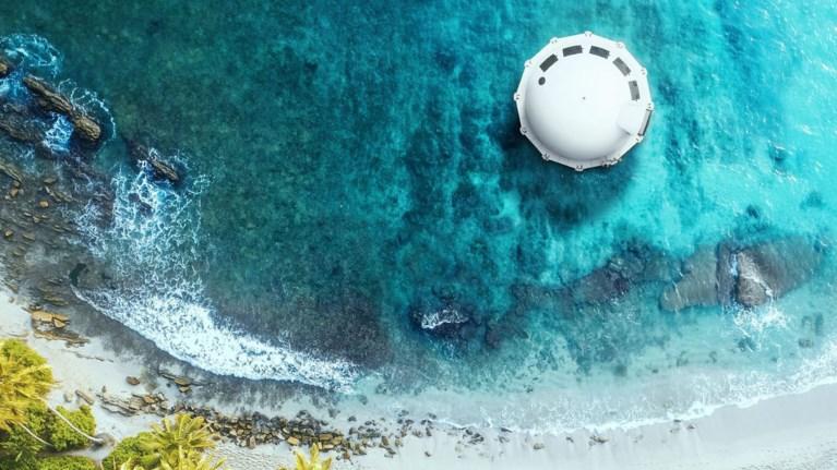 Anthenea, ένα πλωτό παλάτι με θέα τον βυθό της θάλασσας