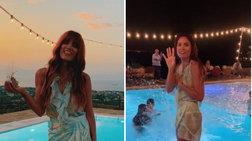 Η Μαίρη Συνατσάκη πήγε καλεσμένη σε γάμο και έπεσε με τα ρούχα στην πισίνα
