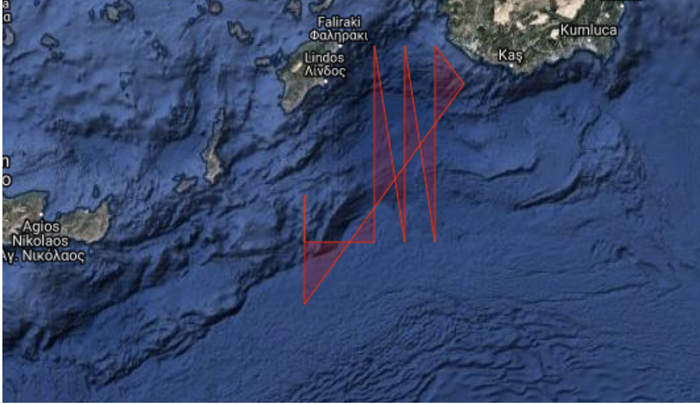 Νέα τουρκική NAVTEX από την Ρόδο μέχρι την Κρήτη