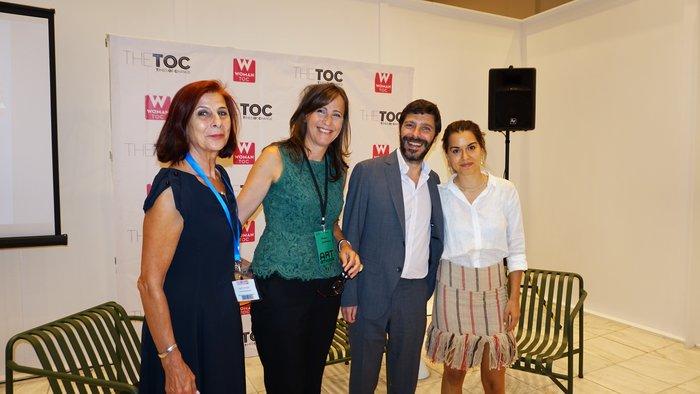 (Από αριστερά) Γιάννα Γραμματοπούλου, Κατερίνα Λυμπεροπούλου, Νικόλας Γιατρομανωλάκης, Σταματία Δημητρακοπούλου