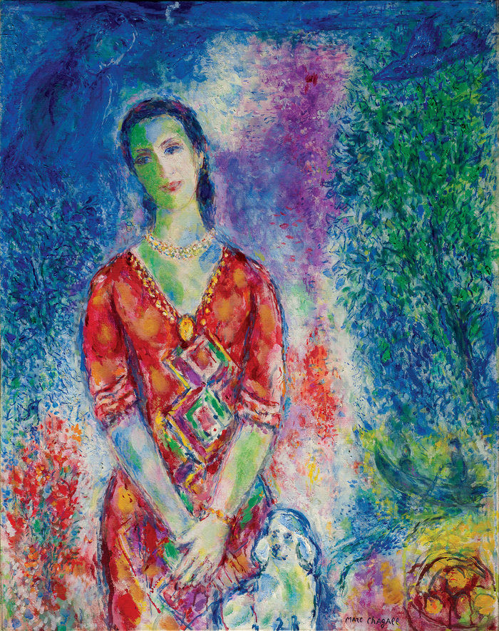Marc Chagall(1887-1985)Portrait de E.B.G.Πορτραίτο της Ε.Β.Γ.Portrait of E.B.G.1969Λάδι σε καμβά | Oil on canvas | 92.5 × 73.5 cm