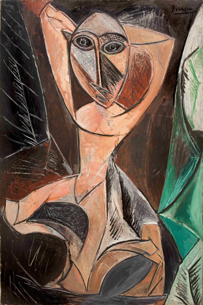Pablo Picasso(1881-1973)Femme nue aux bras levésΓυμνή γυναίκα με σηκωμένα χέριαNude Woman with Raised Arms1907Λάδι σε καμβά | Oil on canvas150 × 100 cm