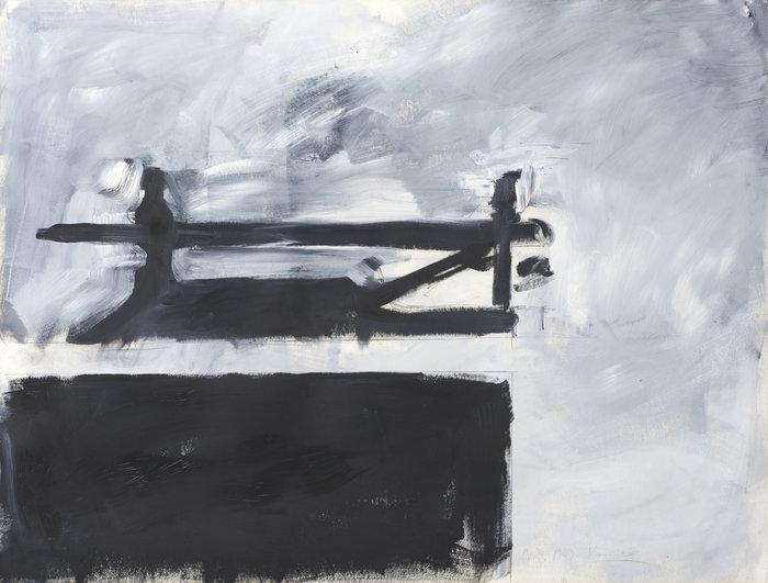 Γιάννης ΚουνέλληςJannis Kounellis(1936-2017)UntitledΧωρίς τίτλο1983Λάδι σε χαρτί | Oil on paper98 × 128 cm