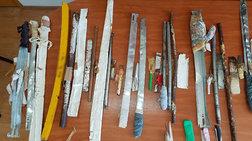 Ναρκωτικά, σπαθιά και μαχαίρια βρέθηκαν στις φυλακές Αυλώνα