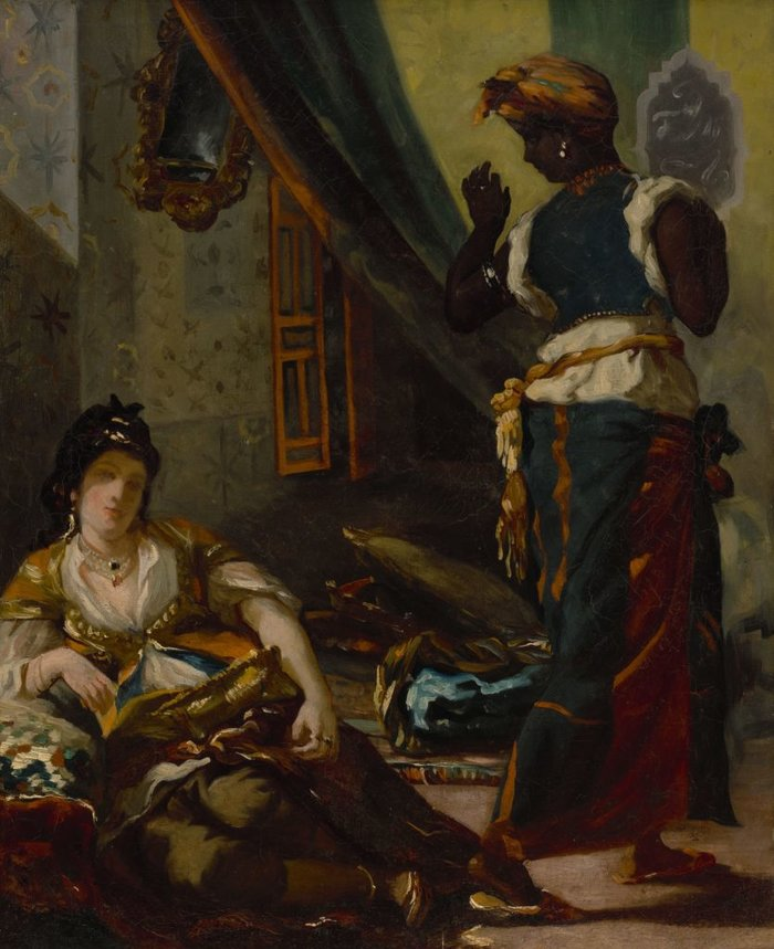 Eugène Delacroix, Women of Algiers in Their Apartment (1833–34). Courtesy of the Museum of Fine Arts, Houston.