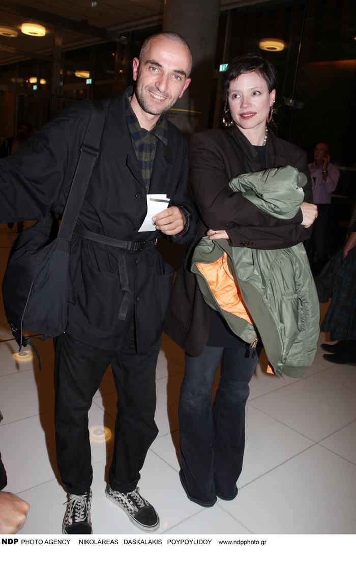 Ο Σερβετάλης με τη σύζυγό του Έφη Μπίρμπα.