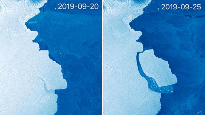 Αποκολλήθηκε παγόβουνο 315 δισ. τόνων στην Ανταρκτική