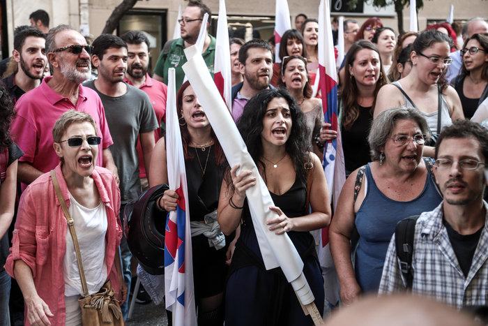 Απεργία: Σε χρόνο... ρεκόρ οι πορείες και με μικρή συμμετοχή - εικόνα 9