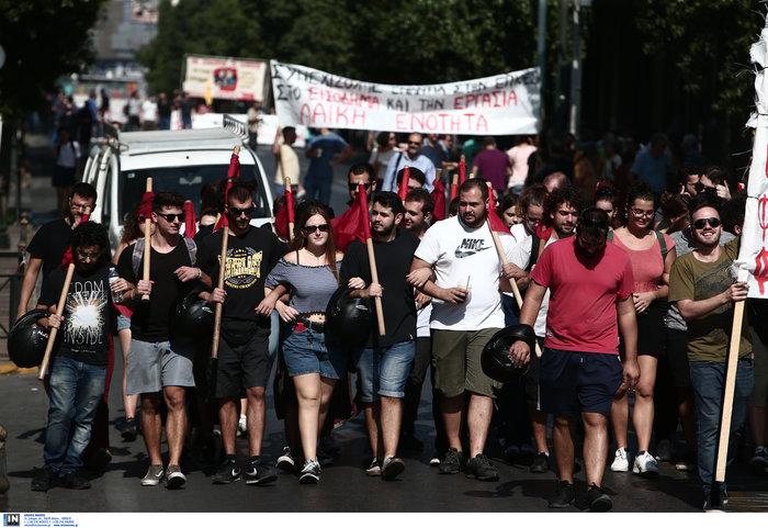 Απεργία: Σε χρόνο... ρεκόρ οι πορείες και με μικρή συμμετοχή - εικόνα 2