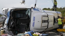 Δέκα νεκροί από μετωπική νταλίκας-λεωφορείου στη Ρουμανία