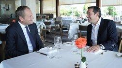 Εφ' όλης της ύλης συζήτηση στο γεύμα Τσίπρα - Τουσκ