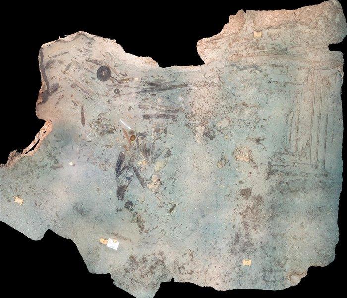 Φωτομωσαϊκό του χώρου ανασκαφής (φωτογραφία και επεξεργασία Γ. Ίσσαρης).