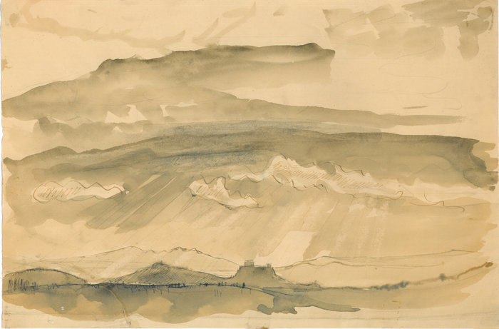 Γιάννης Παππάς. Ακρόπολη. Ακουαρέλα. Αθήνα 1943 Μουσείο Μπενάκη / Εργαστήριο Γιάννη Παππά