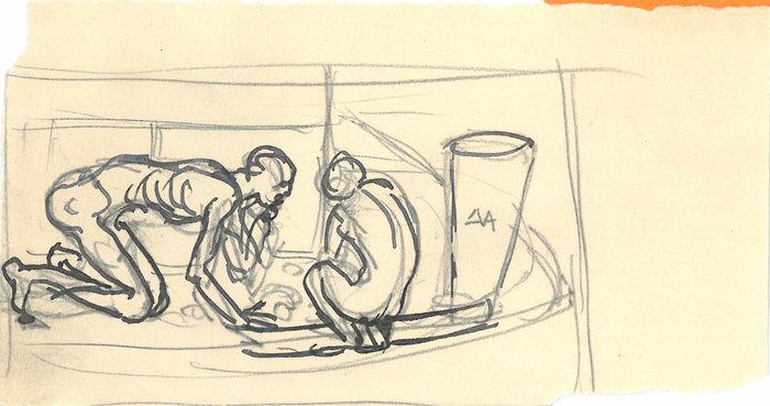 Γιάννης Παππάς. Κατοχή. Άνθρωποι ψάχνουν τροφή στα σκουπίδια. Αθήνα 1941 Μουσείο Μπενάκη / Εργαστήριο Γιάννη Παππά