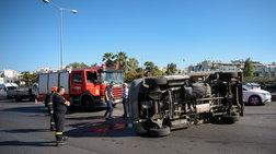 Κυκλοφοριακό κομφούζιο στον Κηφισό από ανατροπή φορτηγού