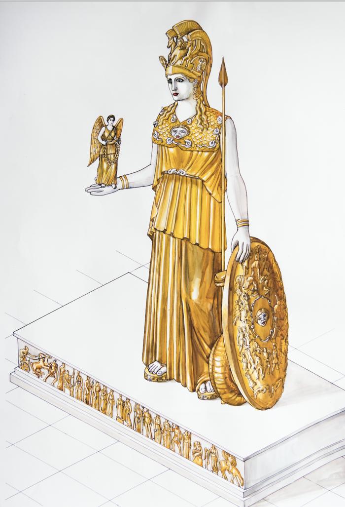 Το χαμένο άγαλμα της Αθηνάς Παρθένου στο Μουσείο Ακρόπολης