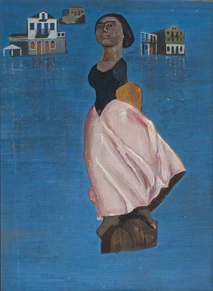 ΣΠΥΡΟΣ ΒΑΣΙΛΕΙΟΥΗ γοργόνα, 1960Αυγοτέμπερα 73 x 53 εκ.Ιδιωτική συλλογή