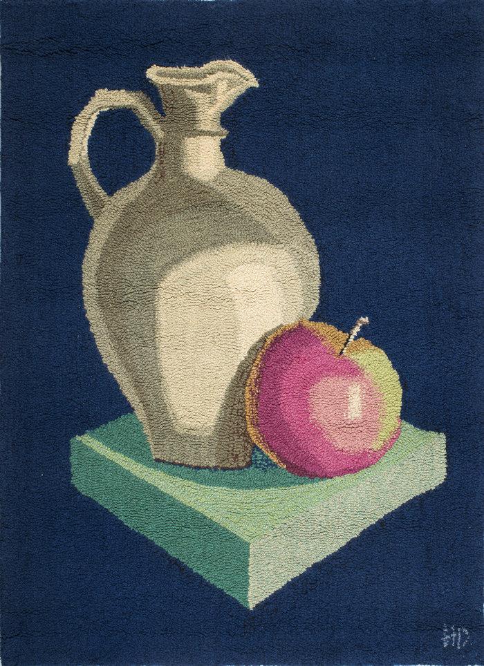 ΗΛΙΑΣ ΔΕΚΟΥΛΑΚΟΣSuper nature morte, 1973Χαλί hand tufted 171 x 126 εκ.Συλλογή Μαρίας Βασιλείου