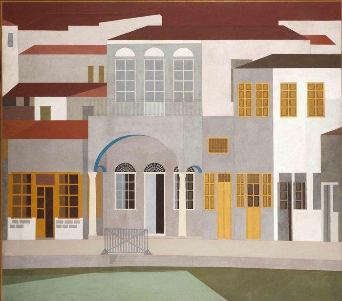 ΝΙΚΟΣ ΝΙΚΟΛΑΟΥΎδρα, 1953Πλαστικό σε νοβοπάν 170 x 190 εκ.Εθνική Πινακοθήκη – Μουσείο Αλεξάνδρου Σούτσου
