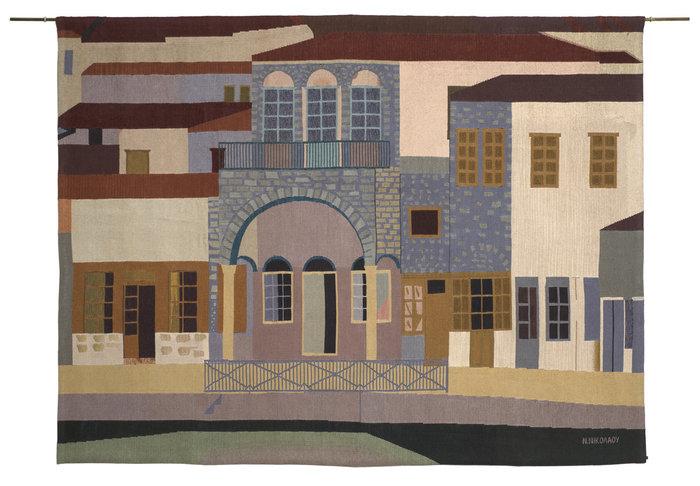 ΝΙΚΟΣ ΝΙΚΟΛΑΟΥΎδρα B, δεκαετία 1980Ταπισερί 138 x 178 εκ.Συλλογή Alpha Bank