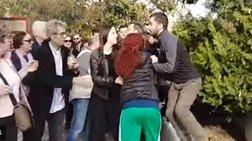 Κατέστρεψαν το στεφάνι του ΣΥΡΙΖΑ στο Πολυτεχνείο Θεσσαλονίκης