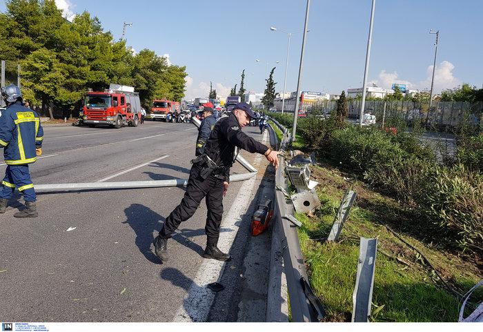 «Τρελό» φορτηγό νέκρωσε την εθνική στον Κηφισό