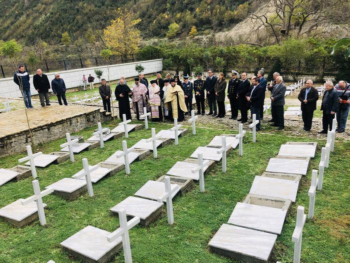 Αλβανία: Ταφή οστών 153 Ελλήνων πεσόντων κατά το έπος του '40