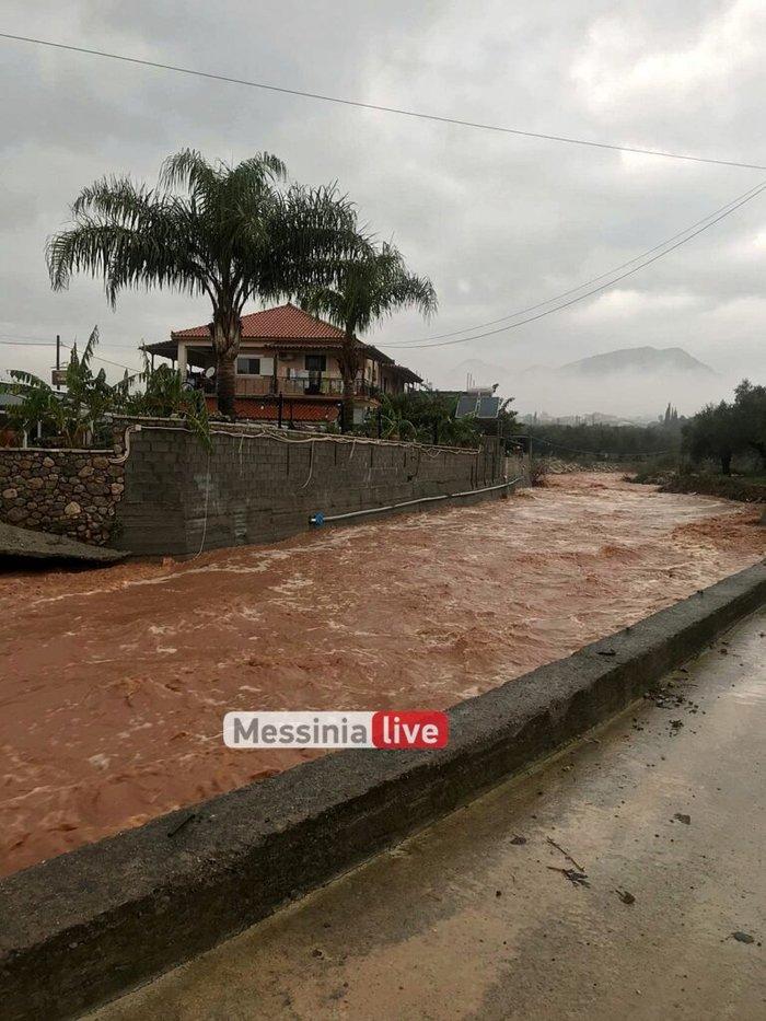 Ισχυρή καταιγίδα: «Πνίγηκε» η Μεσσηνία - Ενεργοποιήθηκε ο «Ξενοκράτης»