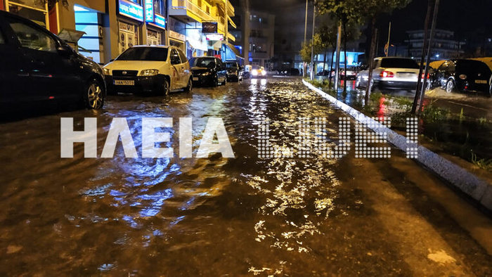 Εικόνες καταστροφής σε Χαλκιδική και Ηλεία από τις πλημμύρες
