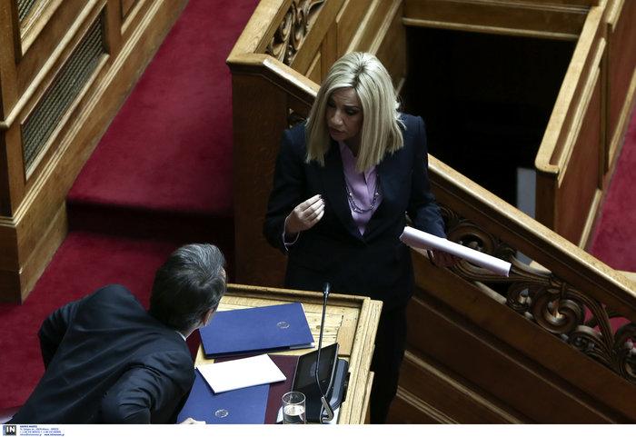 Τετ α τετ Μητσοτάκη- Φώφης στην Βουλή για την Συνταγματική Ανανθεώρηση