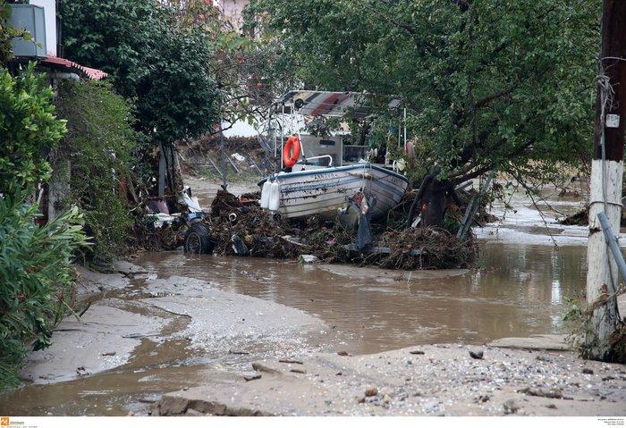 Εικόνες καταστροφής και στη Χαλκιδική από την κακοκαιρία - εικόνα 3