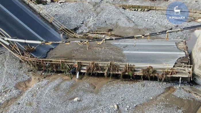 Γέφυρα στη Ρόδο κατέρρευσε σαν χάρτινος πύργος [βίντεο] - εικόνα 3