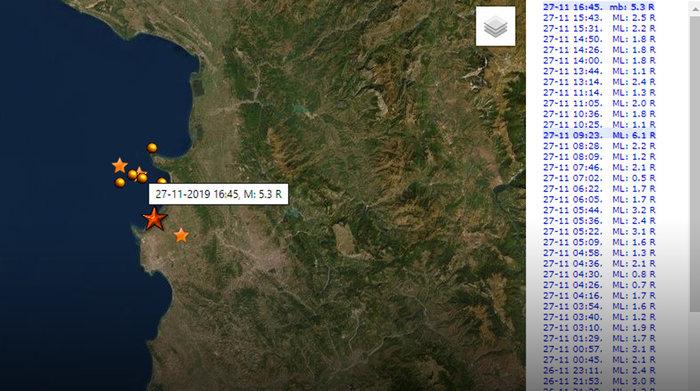 Έκτακτο: Πανικός στην Αλβανία - Νέος σεισμός 5.3 Ρίχτερ
