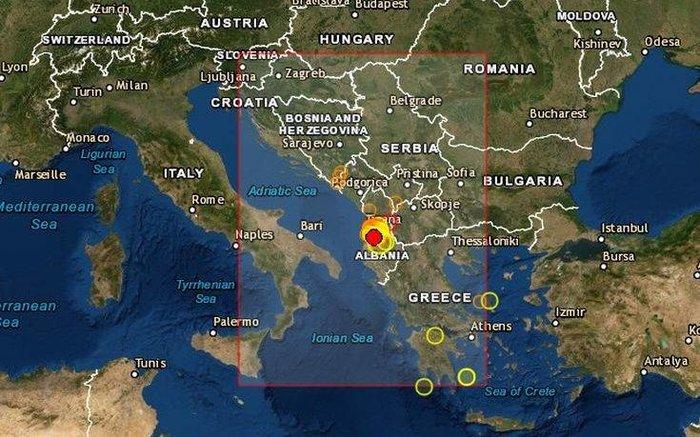 Νέος ισχυρός σεισμός πριν από λίγο στην Αλβανία