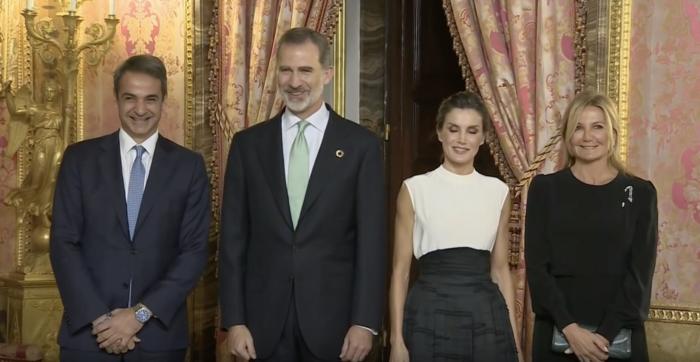 Κυριάκος & Μαρέβα Μητσοτάκη στη δεξίωση της Λετίσια και του βασιλιά Φελίπε
