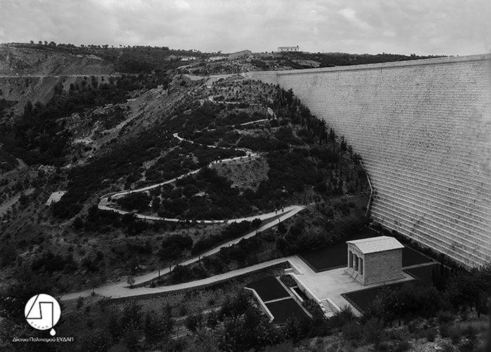 Άποψη του Φράγματος Μαραθώνα, π. 1930-1931Πηγή: Ιστορικό Αρχείο ΕΥΔΑΠ