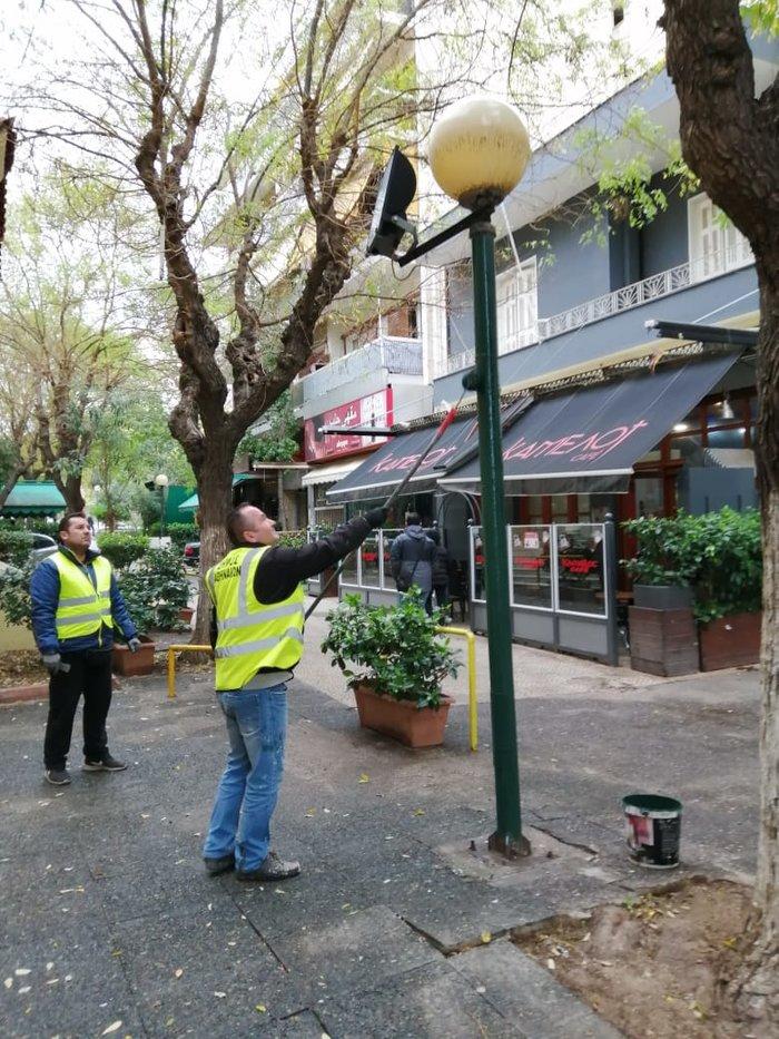 Πέντε πλατείες στους Αμπελοκήπους παραδίδονται καθαρές - εικόνα 3