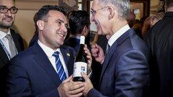 Βορειομακεδονίτικο κρασί πρόσφερε ο Ζάεφ στον γγ του ΝΑΤΟ