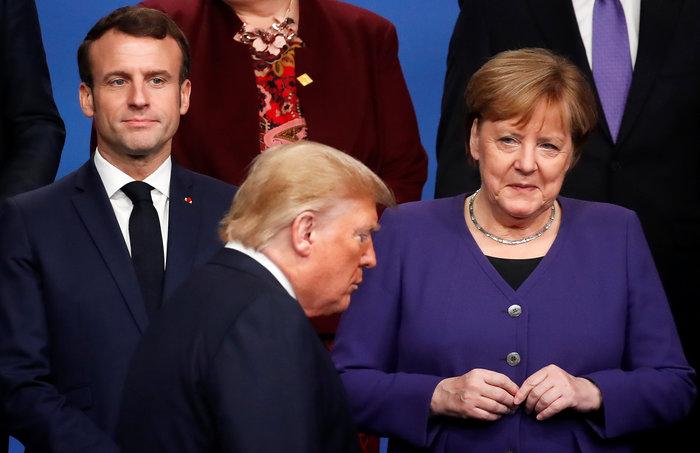 Φονικά βλέμματα Μέρκελ-Μακρόν σε Τραμπ σήμερα στο ΝΑΤΟ - εικόνα 8