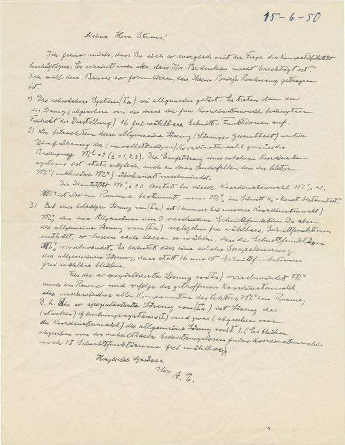 Ιστορική επιστολή Αϊνστάιν σε δημοπρασία - Δεν την πήρε κανείς