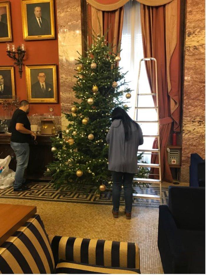 Ο παραδοσιακός χριστουγεννιάτικος στολισμός στο εντευκτήριο της Βουλής - εικόνα 3
