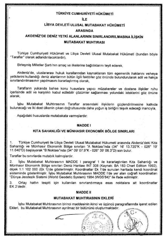Στο ελληνικό υπουργείο Εξωτερικών η συμφωνία Τουρκίας - Λιβύης [έγγραφα]