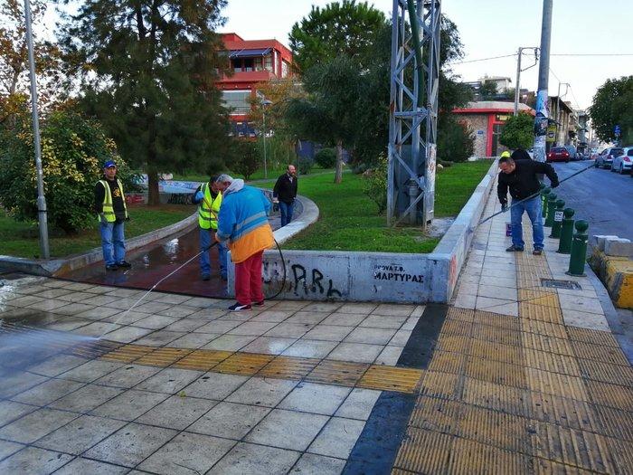 Ο Δήμος Αθηναίων καθάρισε πλατείες σε Γκάζι και Παγκράτι [φωτογραφίες] - εικόνα 2
