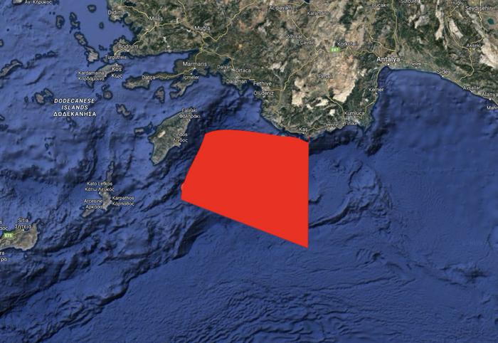 Νέα τουρκική NAVTEX που καλύπτει το Καστελόριζο