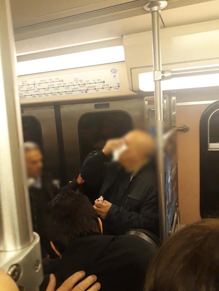 Θλίψη: Αίματα και σπασμένα γυαλιά στο μετρό του Συντάγματος
