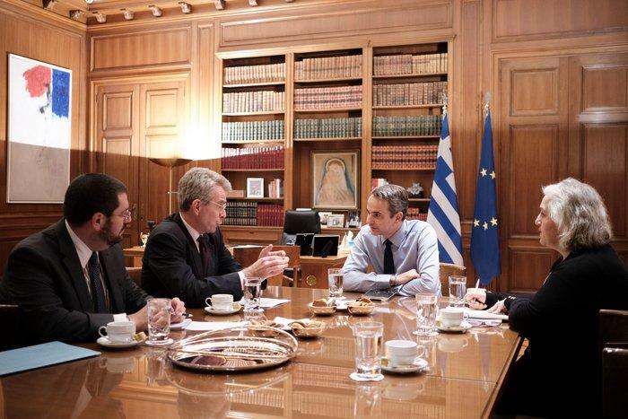 Συνάντηση Μητσοτάκη-Πάιατ για ελληνοτουρκικά και επίσκεψη στις  ΗΠΑ