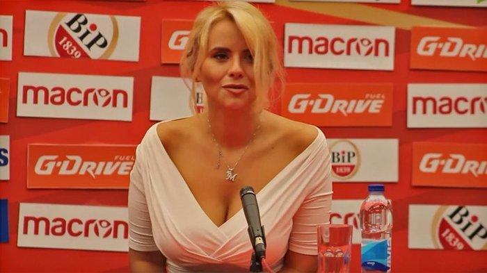 Η καλλονή Τατιάνα Σαΐκοβιτς έβαλε ήδη... γκολ στο Καραϊσκάκη  [εικόνες] - εικόνα 10