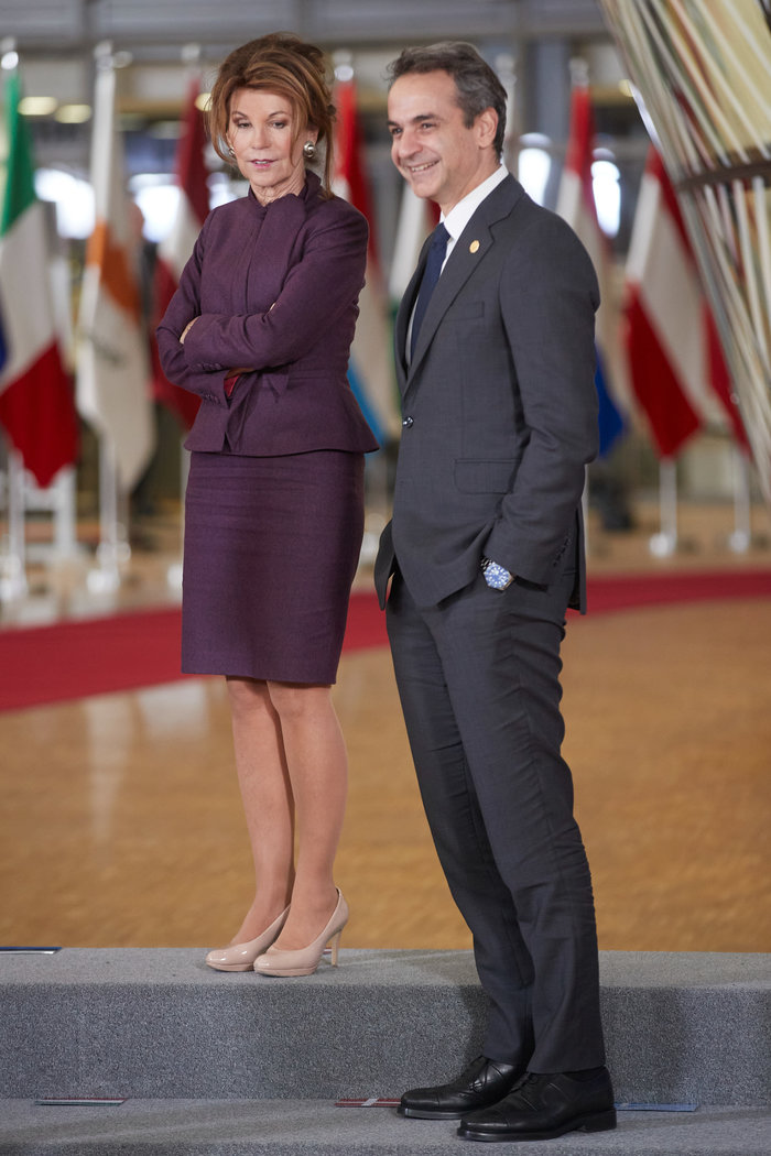 Viral η διαφορά ύψους Κ.Μητσοτάκη με την Αυστριακή Καγκελάριο