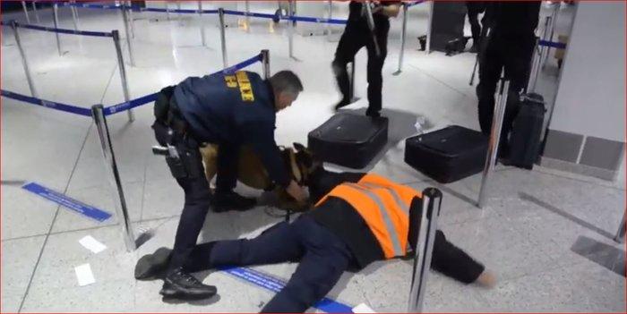 «Τρομοκρατική απειλή» στο «Ελ. Βενιζέλος»: Εντυπωσιακό βίντεο